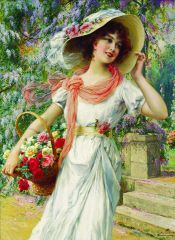 Emile Vernon The Flower Garden painting for sale, this painting is available as handmade reproduction. Shop for Emile Vernon The Flower Garden painting and frame at a discount of off. Vernon, Vintage Prints, Vintage Art, Beaux Arts Paris, Munier, Garden Painting, Foto Art, Victorian Women, Victorian Era