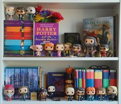 Day 10 of hosted by is Favourite Fandom! Of course mine is Harry Potter. This photo is pretty similar to the last photo of my HP shelf but pretty soon my funko collection will be complete and I'll be able to Harry Potter Bedroom, Harry Potter Books, Harry Potter Pop Up, Funko Pop Harry Potter, Collection Harry Potter, Draco, Scorpius And Rose, Fandoms, Mischief Managed