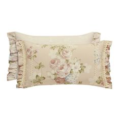 Bring a shabby chic vibe to your bedroom with the Piper & Wright Anna Boudoir Throw Pillow. Beautifully embellished with pretty a pretty blush and ivory floral pattern, the lovely pillow is the perfect complement to the charming bedding. Shabby Chic Pillows, Shabby Chic Furniture, Machine Wash Pillows, Pillow Arrangement, American Decor, Sofa Pillows, Decorative Accessories, Decorative Throw Pillows, Boudoir