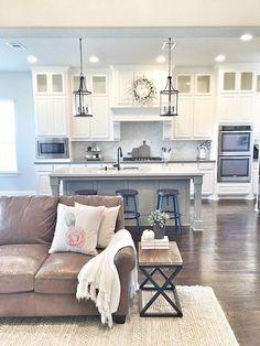 60 amazing farmhouse style living room design ideas (34)