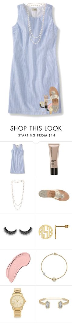 """""""ya see the thing is, i'm not actually over you at all..."""" by lindsaygreys ❤ liked on Polyvore featuring Bare Escentuals, The Pearl Quarter, Jack Rogers, NYX, Bloomingdale's, Michael Kors and Kendra Scott"""