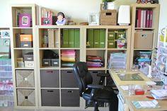 My Studio.  #ikea  #craft room #home office