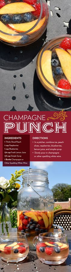Champagne Punch, Summer Cocktail Recipe