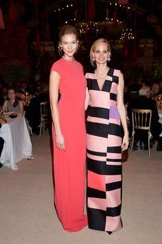 Karlie Kloss and Lauren Santo Domingo Carnegie Hall's 125th Anniversary Opening Night Gala #pink