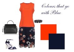 Colours that go with Blue by silhouetteimage on Polyvore featuring Natan, Karen Millen, Miu Miu and Lanvin