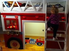 The Firetruck Bed, this is adorable! and I would put a bed underneath for Colby instead of leaving it open