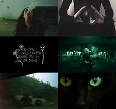 """hp aesethetic: Dark Slytherin """"Bitterness and slyness are the humans way of…"""