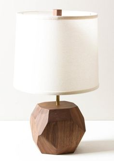 Solid Walnut Base Table Lamp By Worleys Lighting