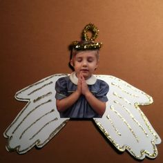 Handprint angel ornament!!                                                                                                                                                                                 More