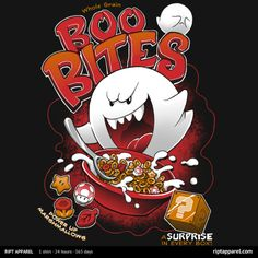 Boo Bites T-Shirt $10 Super Mario Bros Cereal tee at RIPT today only!