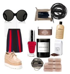 """be weird"" by imapie ❤ liked on Polyvore featuring Miu Miu, Gucci, Byredo, philosophy, Fresh, By Terry, Yves Saint Laurent, Korres, Urbanears and Christy"