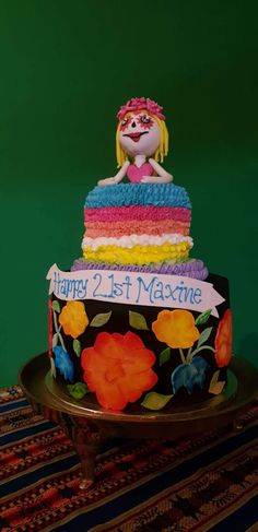 21st Party, Mexican, Cake, Desserts, Food, Tailgate Desserts, Deserts, Food Cakes, Eten