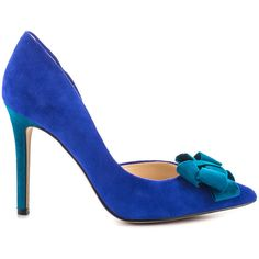 Jessica Simpson Women's Carlene - New Cobalt Blue Lux Sd (€85) ❤ liked on Polyvore featuring shoes, pumps, blue, pointed toe high heel pumps, pointed toe d orsay pumps, pointed-toe pumps, suede pointed toe pumps and d'orsay pumps