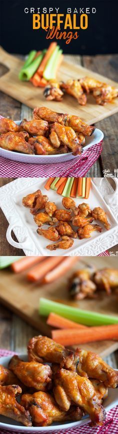 Crispy BAKED Buffalo Wings! #glutenfree #paleo #football Equally Delightful and Completely Paleo