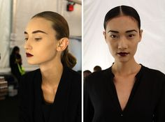 Bold Brows and Berry Lips at Naeem Khan #Birchbox