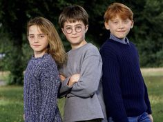 Throwback thursday. Little Harry, Ron and Hermione ❤️
