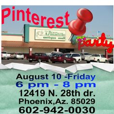 Pinterest Party. Come join us and please bring a friend...or two!   Pinterest Scavenger Hunt!!