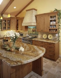 granite and kitchen colors