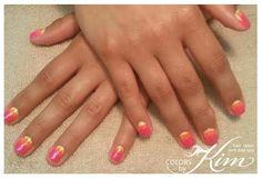 Ombre & Glitter Gel Polish Manicure. Designed by Maria!