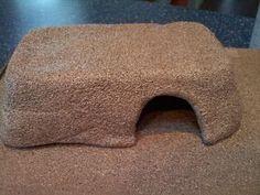 Affordable DIY stone reptile hides.