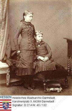 Princesses Irene and Alix of Hesse, 1879