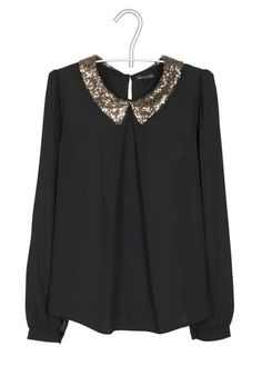 Top col sequins  Noir by BEST MOUNTAIN