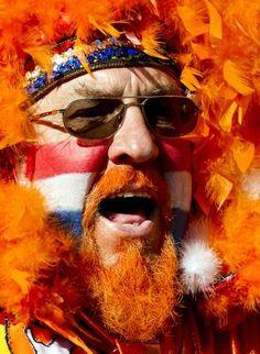 Nederlandse supporter van ORANJE (voetbal) Holland I Love lT ⚽️
