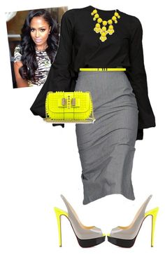 Aim Convention!!!! #iloveaim #night3 by cogic-fashion on Polyvore featuring Christian Louboutin and Yves Saint Laurent