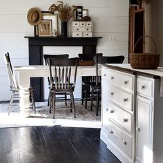 Sunny quiet mornings will always be my favorite. Unfinished spaces are not my favorite but if all stays on schedule, the remodeling will… Home Decor Furniture, Furniture Makeover, Black Furniture, Painted Furniture, Laundry Room Doors, Building Raised Garden Beds, Antique Buffet, Cottage Style Homes, Farmhouse Chic