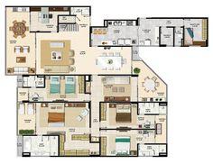 planta de mansão com 1000 m2 - Pesquisa do Google