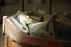 Tomb of Eleonor of Aquitaine & her husband King Henry in Fontevrault Abbey