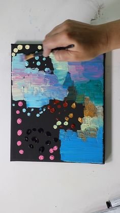 Click through to check out out my FAQs sheet all about colorful, easy and fun abstract acrylic paintings that you can do at home! painting diy videos Abstract Acrylic on Black Canvas by Josie Lewis Cute Canvas Paintings, Small Canvas Art, Mini Canvas Art, Diy Canvas, Acrylic Painting Canvas, Diy Painting, Painting Videos, Painting Abstract, Abstract Lines