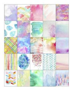 FREE Pastel Watercolor Erin Condren Life Planner Full Square Boxes Free Download by Kimberly Fought Beeler