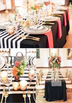 kate spade reception table  #modernwedding @weddingchicks