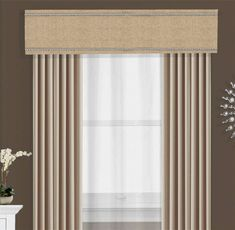 This nail head trimmed cornice board pelmet box valance can be used alone or as a finishing touch to your curtains or other window treatments. A custom cornice Box Valance, Pelmet Box, Valances & Cornices, Window Cornices, Window Coverings, Curtain Box, Curtain Pelmet, Valance Ideas, Plywood Furniture