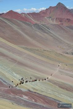 A Rainbow Fell to Earth – Hiking Rainbow Mountain Peru - a reputedly spectacular rock formation a few hours from the city | The Planet D Travel Blog by Canada's Adventure Couple!