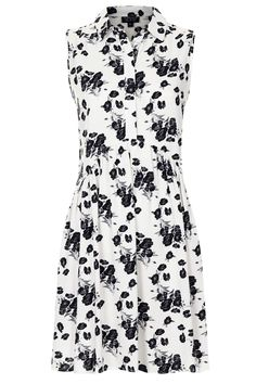 Topshop | Pansy Print Smock Shirt Dress