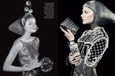 Makeup by Georgina Graham (Vogue Italia October Angelo Seminara, Editorial Fashion, Hair Makeup, Hair Beauty, Vogue, Stylists, Glitter, Hair Styles, Pretty
