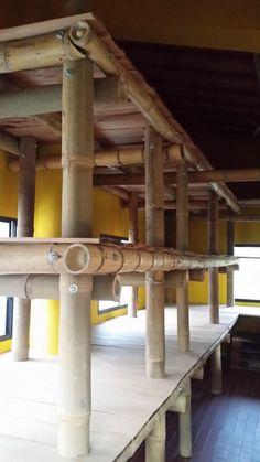 Bamboo Racks Biolcom Ecuador Guadua Angustifolia and Dendrocalamus giganteus Bamboo Roof, Bamboo Art, Bamboo Crafts, Bamboo Garden, Bamboo Fence, Bamboo Building, Natural Building, Module Design, Types Of Timber