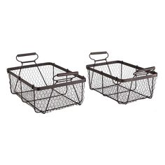 I love wire baskets!  These are $39.00/pair from Wisteria.com