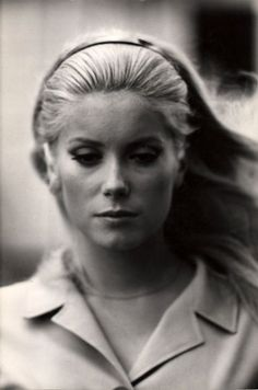 Catherine Deneuve -- Portrait - Famous Actor - Black and White Photography