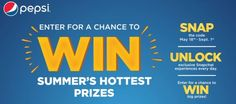 Pepsi Fountain Summer Sweepstakes is open only to legal U.S. residents residing in any of the 50 United States and the District of Columbia who is 13 years of age or older at the time of entry. Enter in the contest for a chance to win summer hottest prizes! Total ARV of all prizes: $42,145. Deadline: September 1, 2017