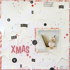 #Papercraft #Scrapbook #Layout. all I want for xmas is U by Mariabi74 at @studio_calico