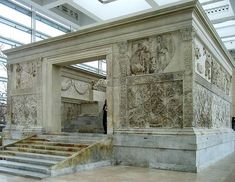 """The Ara Pacis Augustae (Latin """"Altar of Augustan Peace""""; commonly shortened to Ara Pacis) is an altar in Rome dedicated to Pax the Roman goddess of Peace. Famous Graves, Vader Star Wars, Sacred Architecture, Flight And Hotel, Rome Travel, Rome Italy, Plan Your Trip, Roman Empire, Ancient Art"""