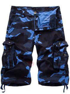 AdoreWe - TideBuy Camouflage Overall Vogue Mens Shorts - AdoreWe.com