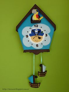 I love love love this pirate themed clock