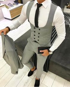 Wedding Suits Likes, 24 Comments - Mens Fashion Wedding Dress Men, Wedding Suits, Designer Suits For Men, Mens Fashion Suits, Mens Suits Style, Suit And Tie, Gentleman Style, Dapper Gentleman, Mode Outfits