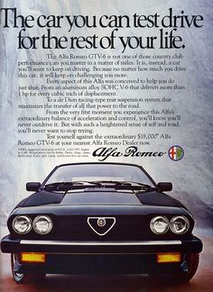 Alfa Romeo GTV6 ad