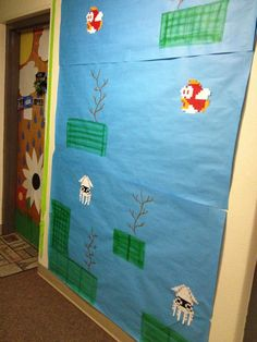 Mario Underwater Theme floor decorations - This would be a fun addition to our floor theme! Dorm Themes, Classroom Themes, Boys And Girls Club, Club Kids, Video Game Decor, Underwater Theme, Resident Assistant, Super Mario Party, Neon Room