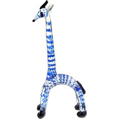 Ercole Barovier Murano Cobalt Blue Spots Italian Art Glass Giraffe Animal Sculpture | From a unique collection of antique and modern animal sculptures at http://www.1stdibs.com/furniture/more-furniture-collectibles/animal-sculptures/